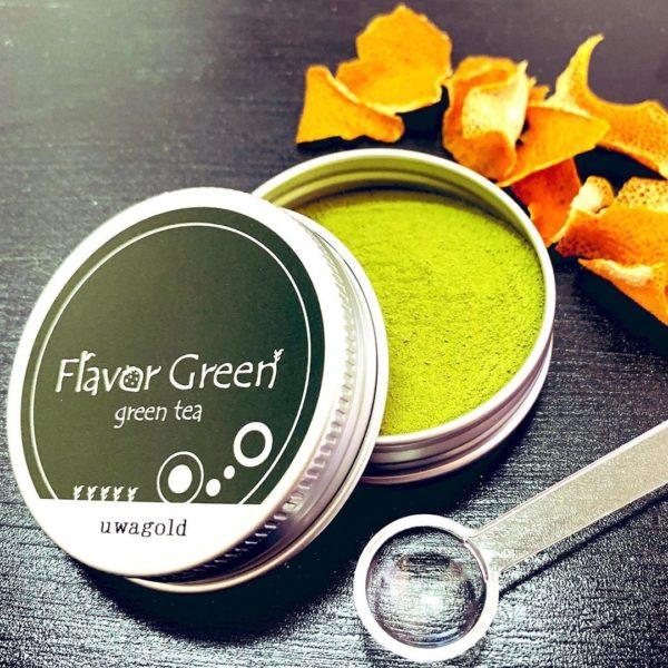 フレーバー緑茶専門店フレーバーグリーンのロゴについて
