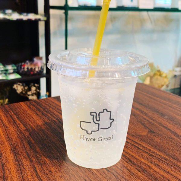 フレーバー緑茶専門店フレーバーグリーンのバレンシアオレンジビネガードリンク